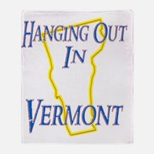 Vermont - Hanging Out Throw Blanket