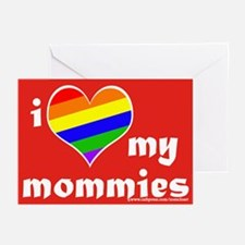 I Love My Mommies (blank) Greeting Cards (10 Pk)
