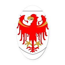 Alto Adige Sudtirol Graphic White  Oval Car Magnet