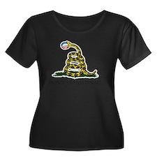 Gadsden_ Women's Plus Size Dark Scoop Neck T-Shirt
