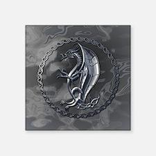 "CelticDragonRound Square Sticker 3"" x 3"""