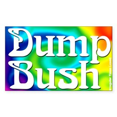 Dump Bush Rectangular Sticker
