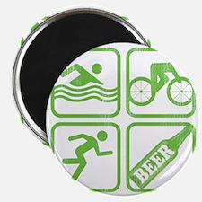 swimbikerunBeer Magnet