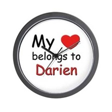 My heart belongs to darien Wall Clock