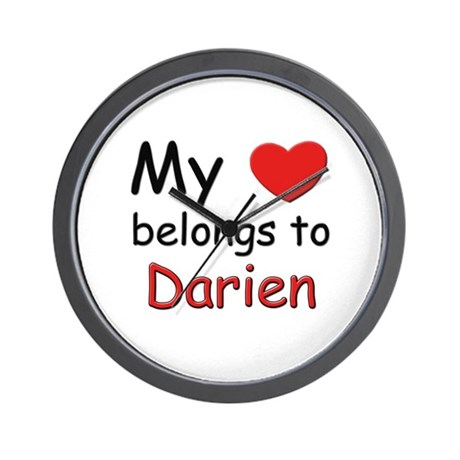 My heart belongs to darien Wall Clock