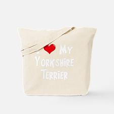I-Love-My-Yorkshire-Terrier-dark Tote Bag