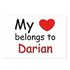 My heart belongs to darian Postcards (Package of 8