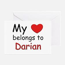My heart belongs to darian Greeting Cards (Package