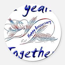 anniversary 2 Round Car Magnet