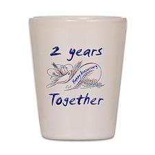 anniversary 2 Shot Glass