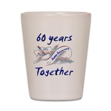 anniversary birds60 Shot Glass