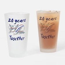 anniversary birds 20 Drinking Glass
