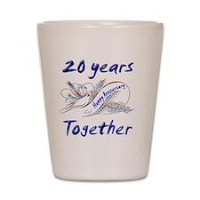 anniversary birds 20 Shot Glass