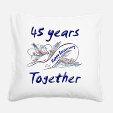 anniversary birds 45 Square Canvas Pillow