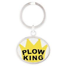 PLOW KING Oval Keychain