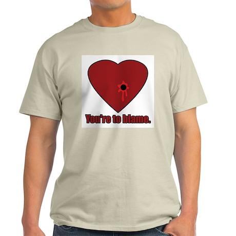 Shot Through the Heart Ash Grey T-Shirt
