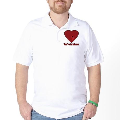 Shot Through the Heart Golf Shirt