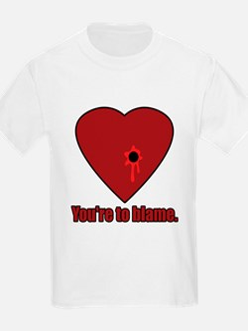 Shot Through the Heart Kids T-Shirt