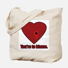 Shot Through the Heart Tote Bag