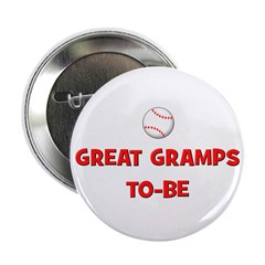 Great Gramps To Be - Baseball Button