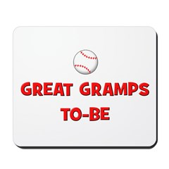 Great Gramps To Be - Baseball Mousepad