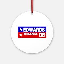EDWARDS - OBAMA 2008 Ornament (Round)