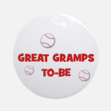 Great Gramps To Be -Baseball Ornament (Round)