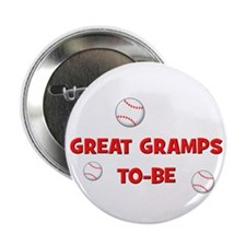 Great Gramps To Be -Baseball Button