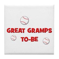 Great Gramps To Be -Baseball Tile Coaster
