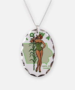 Vintage Iowa Pinup Necklace