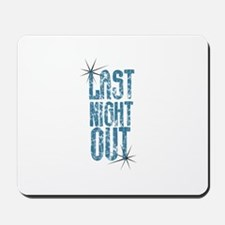 Last Night Out Vintage Blue Mousepad