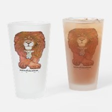5-lion and lamb square Drinking Glass