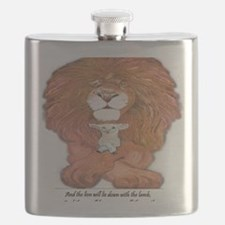 5-lion and lamb square Flask