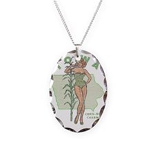 Faded Iowa Pinup Necklace