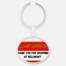 hellmartbasicrecsticker Oval Keychain