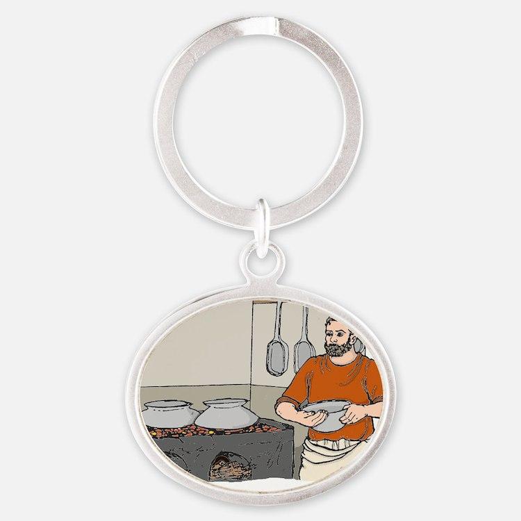 Grumio colour Oval Keychain