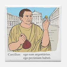 caecilius_col Tile Coaster