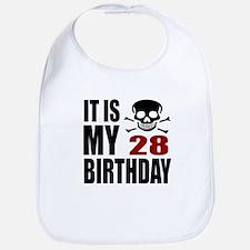 It Is My 28 Birthday Cotton Baby Bib