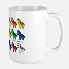 New Zebra multi rows copy Ceramic Mugs