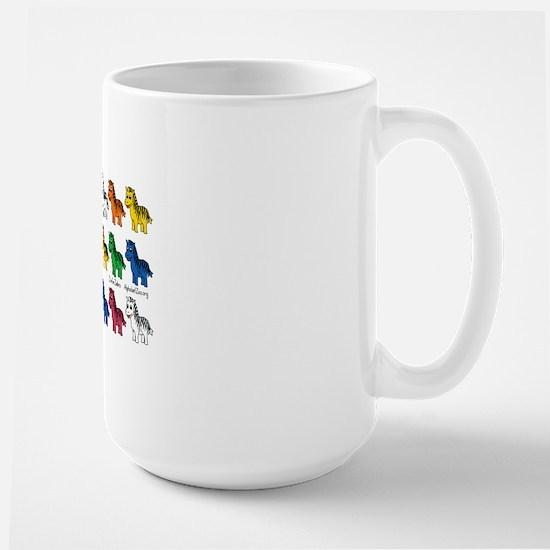 New Zebra multi rows copy Large Mug