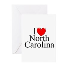 """""""I Love North Carolina"""" Greeting Cards (Package of"""