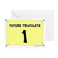 triathlete Greeting Card
