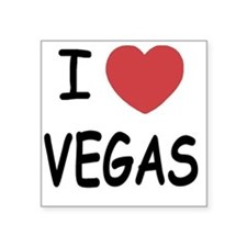 "VEGAS Square Sticker 3"" x 3"""