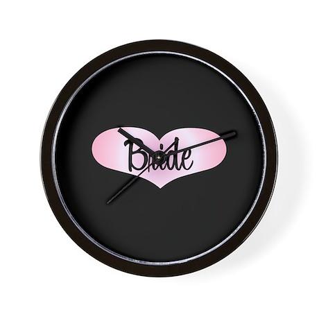 Bride Pink Heart Wall Clock