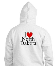"""I Love North Dakota"" Hoodie"