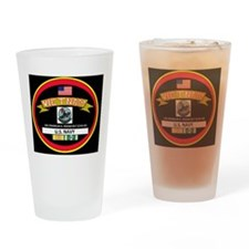 CVA42BLACKTSHIRT Drinking Glass
