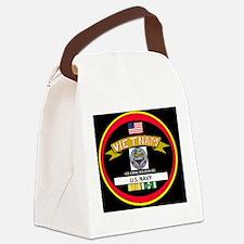 CVA43BLACKTSHIRT Canvas Lunch Bag