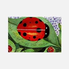 Lady bug framed panel Rectangle Magnet