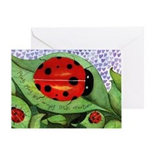 Lady bug framed panel Greeting Card