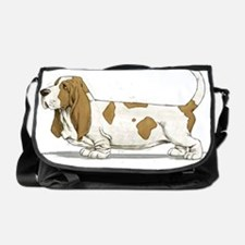 Basset-Hound-Watercolor Messenger Bag